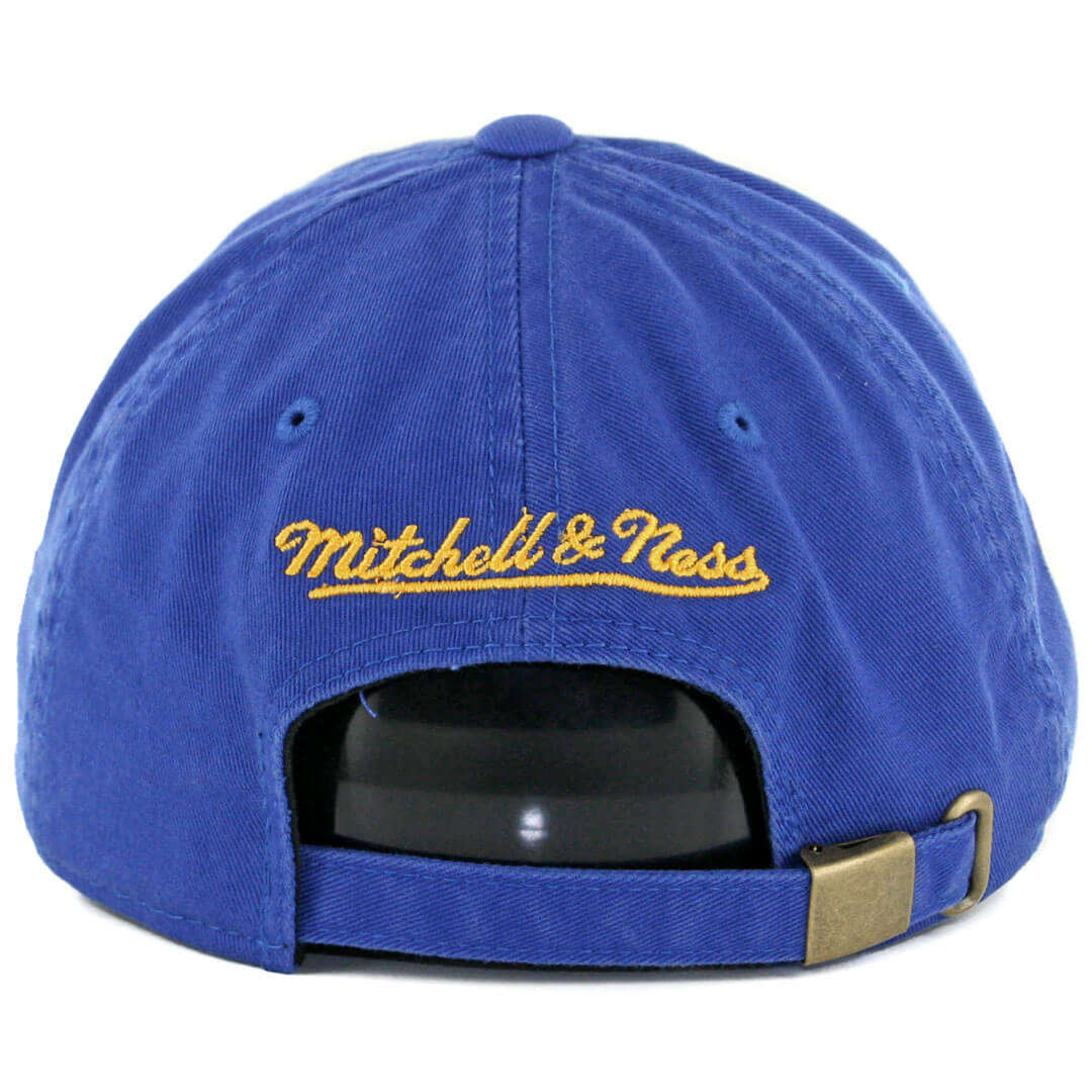 49bf8de2 Mitchell & Ness Golden State Warriors Elements Slouch Strapback Hat Royal  Blue. 🔍. $26.00