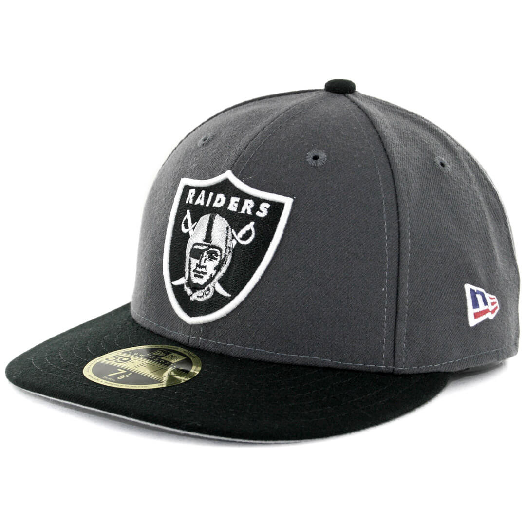 1617bd2637e3e ... usa new era 59fifty low profile oakland raiders made in america fitted  hat graphite black 4d2ca