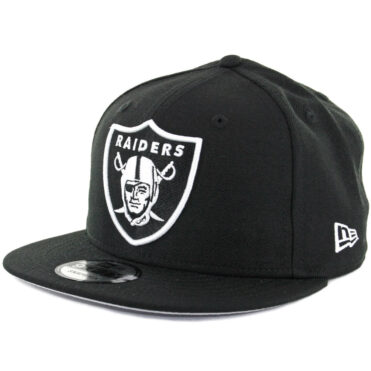 New Era 9Fifty Oakland Raiders Black White Snapback Hat