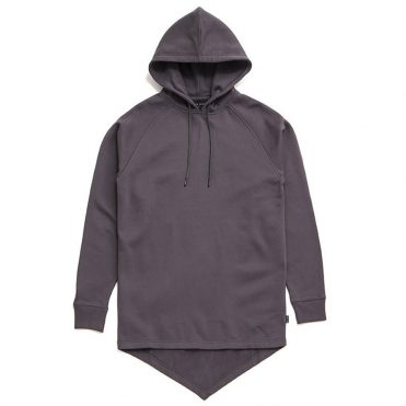 Black Scale Fishtail Pullover Hoodie Charcoal
