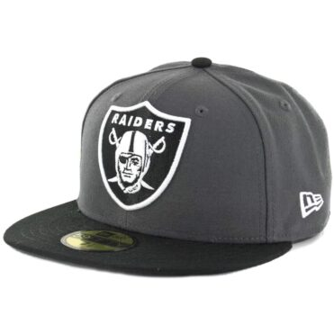 New Era 59Fifty Oakland Raiders Dark Graphite Black Fitted Hat