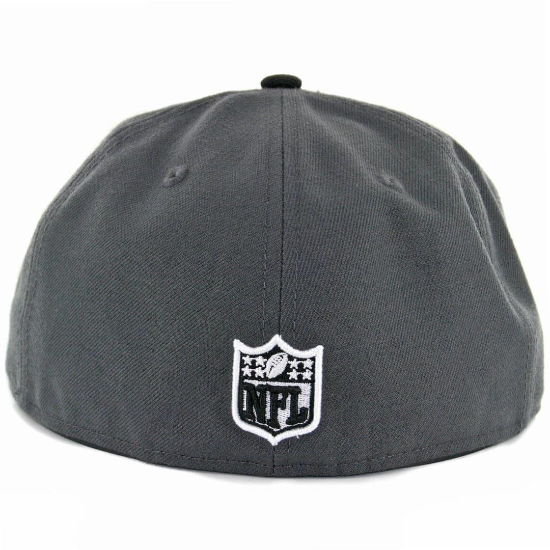 HEATHER Oakland Raiders graphit New Era 59Fifty Fitted Cap