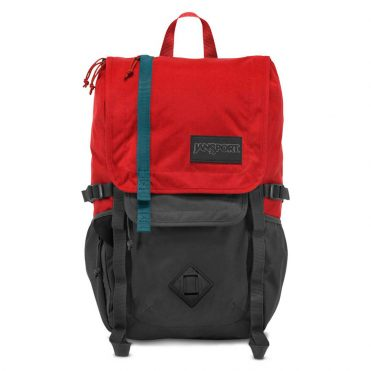 JanSport Hatchet Back Pack Forge Grey Red Tape