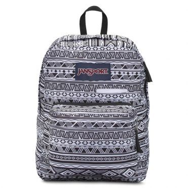 JanSport Digibreak Back Pack Black White Jazzy Geo