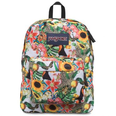 JanSport Superbreak Back Pack Multi Jungle Jam
