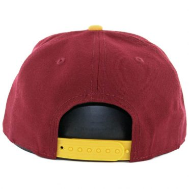New Era 9Fifty Washington Redskins Historic Baycik Snapback Hat Burgundy Yellow