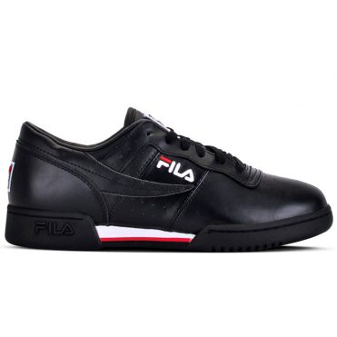 FILA Original Fitness Shoe Black White Red