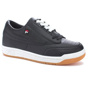 FILA Original Tennis Shoe Black White Gum