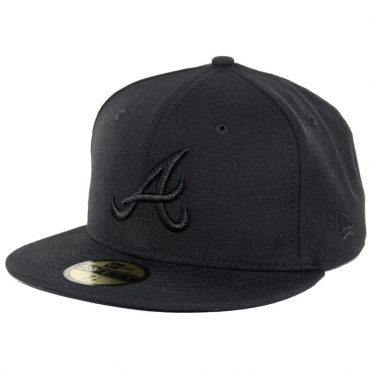 New Era 59Fifty Atlanta Braves 2017 Fitted Blackout, All Black Hat