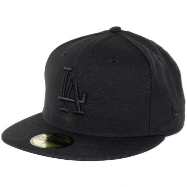 New Era 59Fifty Los Angeles Dodgers Fitted Blackout, All Black Hat