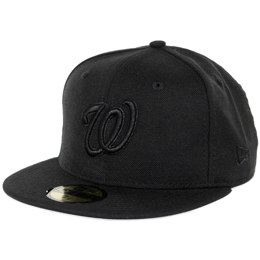 best service 6a91c 2370e ... canada new era 59fifty washington nationals fitted blackout all black  hat c2b18 b65b3