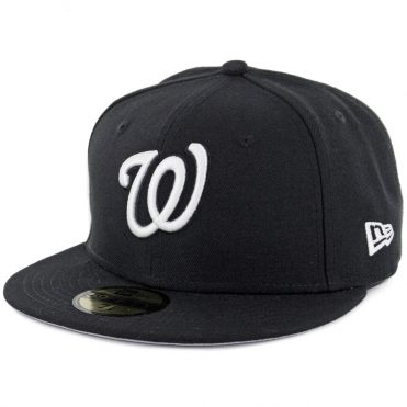 New Era 59Fifty Washington Nationals Fitted Black, White Hat