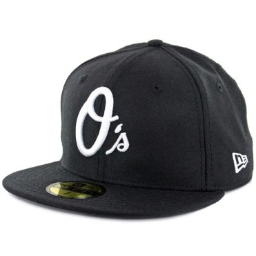 New Era 59Fifty Baltimore Orioles Fitted Black, White Hat
