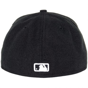 New Era 59Fifty San Diego Padres Fitted Black, White Hat