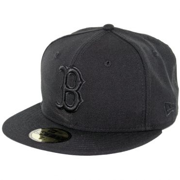 New Era 59Fifty Boston Red Sox Fitted Blackout, All Black Hat