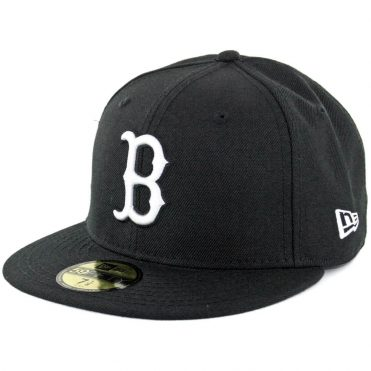 New Era 59Fifty Boston Red Sox Fitted Black, White Hat
