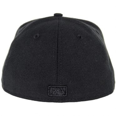 New Era 59Fifty New York Yankees Fitted Blackout, All Black Hat
