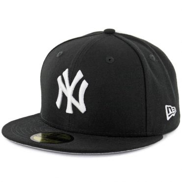 New Era 59Fifty New York Yankees Fitted Black, White Hat