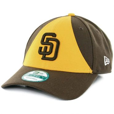 New Era 9Forty San Diego Padres The League Alternate 2 Strapback Hat Gold Brown