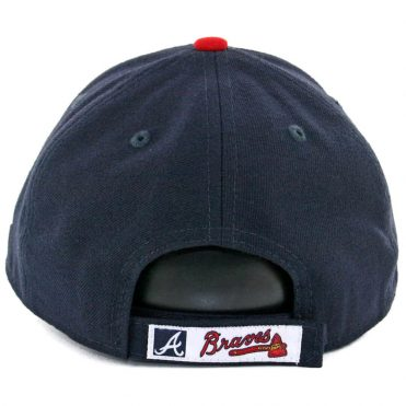 New Era 9Forty Atlanta Braves The League Game Strapback Hat Dark Navy Red