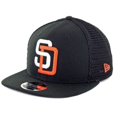 New Era 9Fifty San Diego Padres 1972 Mesh Fresh Snapback Hat Black
