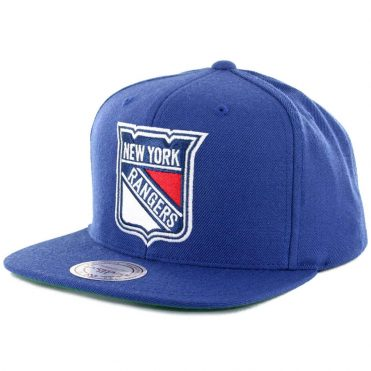 Mitchell & Ness New York Rangers Wool Solid Snapback Hat Blue