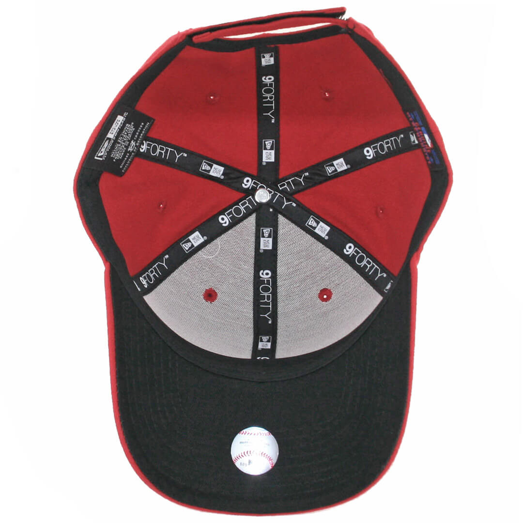 detailed look 61b85 54950 New Era 9Forty Cleveland Indians The League Alternate Strapback Hat Red.  🔍.  17.99