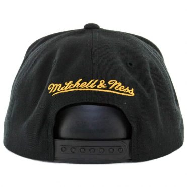 Mitchell & Ness Los Angeles Galaxy Team Solid 3 Snapback Hat Black