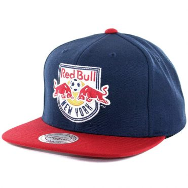 Mitchell & Ness New York Red Bulls Team Solid 3 Snapback Hat Navy Red