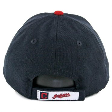 New Era 9Forty Cleveland Indians The League Home Strapback Hat Dark Navy Red