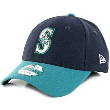 New Era 9Forty Seattle Mariners The League Alternate 1 Strapback Hat Dark Navy Teal