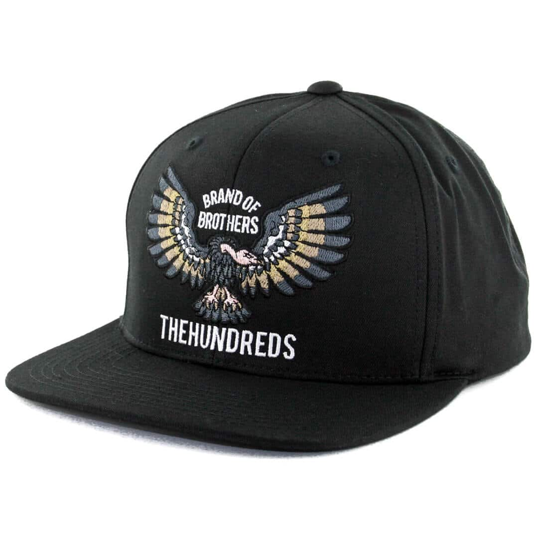 The Hundreds Cycle Snapback Hat Black Billion Creation