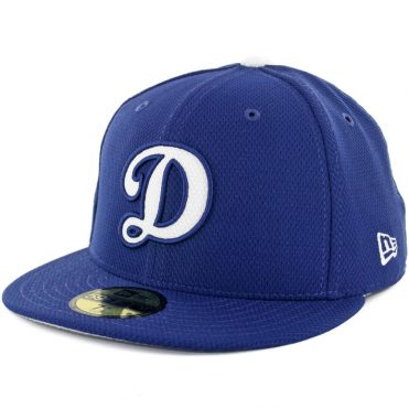 New Era 59Fifty Los Angeles Dodgers Game 2017 Batting Practice On Field Fitted Hat Royal