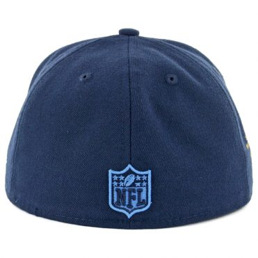 New Era 59Fifty San Diego Chargers Data Turn Seau # 55 Fitted Hat Navy