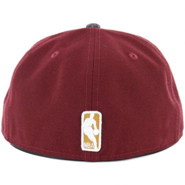 New Era 59Fifty Cleveland Cavaliers Gripping Vize Fitted Hat Burgundy
