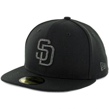 New Era 59Fifty San Diego Padres Twist Trick Fitted Hat Black