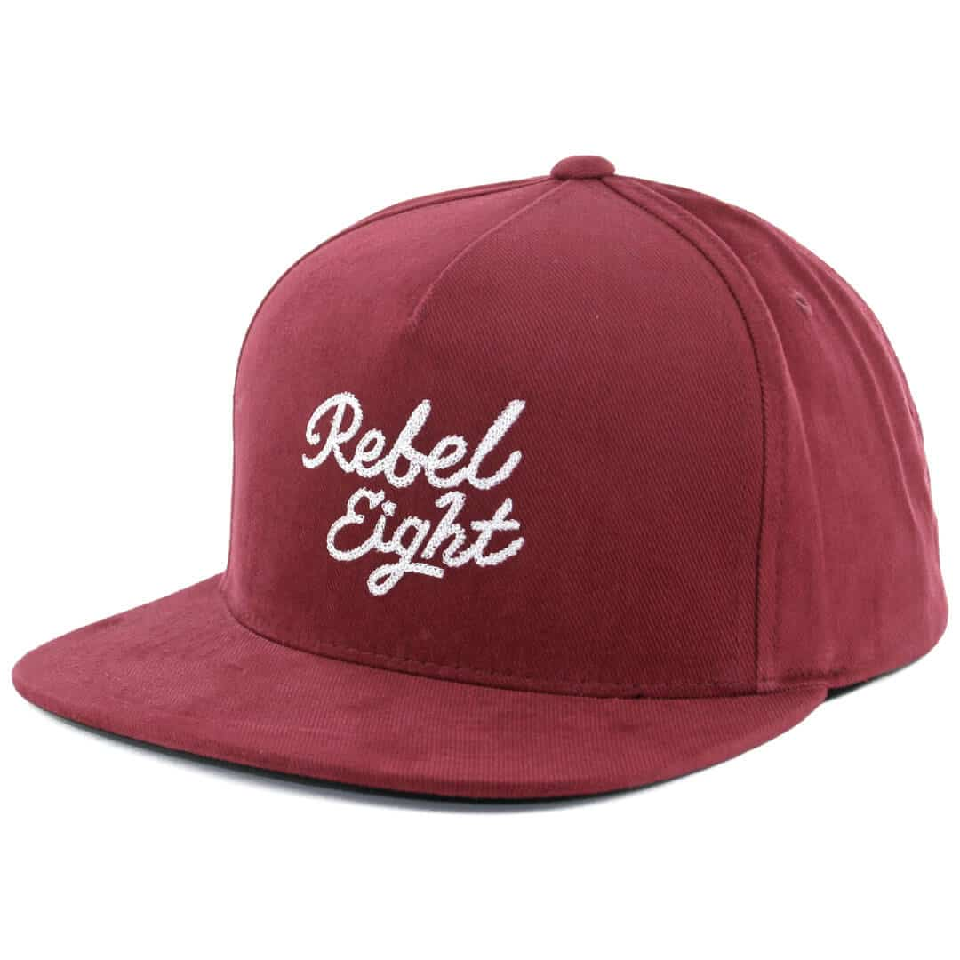 Rebel8 Rose And Dagger Snapback Hat Burgundy Billion