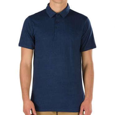 Vans Classic Polo Shirt Dress Blue Heather