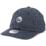 Mitchell & Ness Golden State Warriors Reverse Denim Slouch Strapback Hat Navy