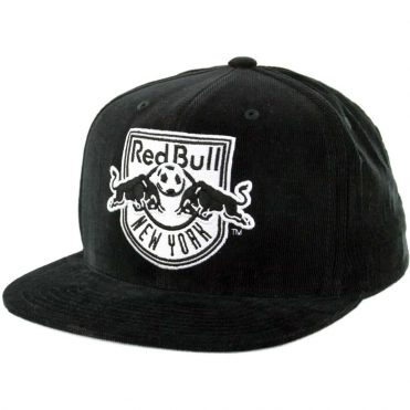 Mitchell & Ness New York Red Bulls Bottom Line Logo Snapback Hat Black