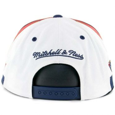 Mitchell & Ness Golden State Warriors Team Short Two Tone Snapback Hat White Navy