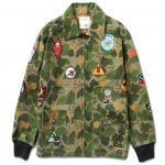 Diamond Supply Co Pacific Tour Patch Jacket Olive Camo