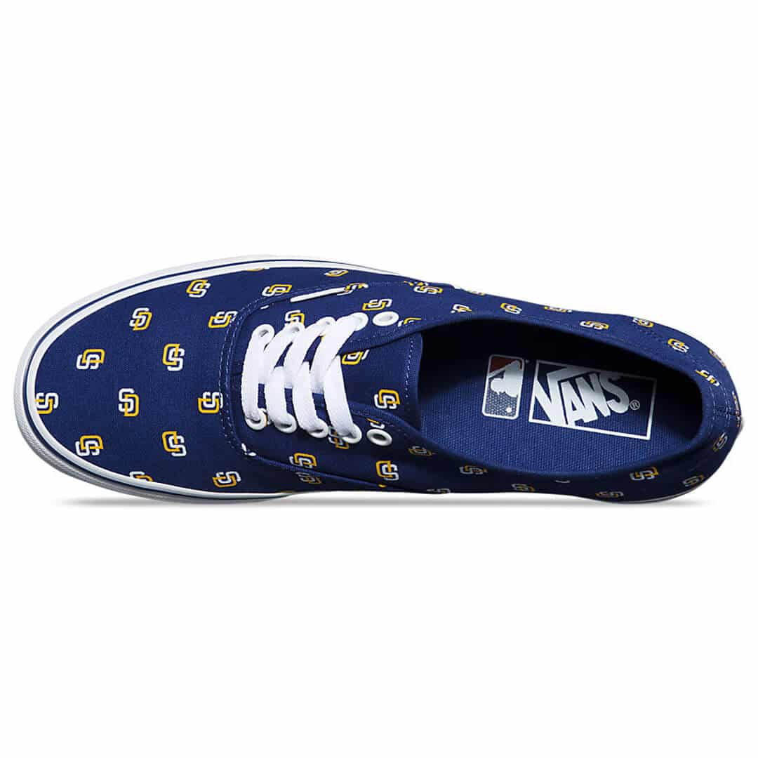 Vans Authentic San Diego Padres Shoe Billion Creation