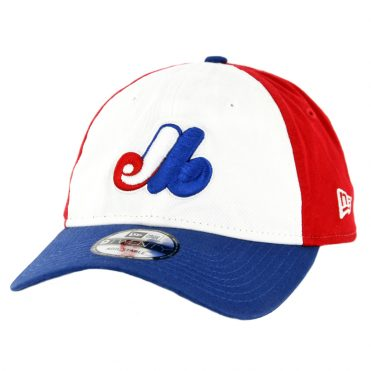 New Era 9Twenty Montreal Expos Cooperstown Strapback Hat Royal Blue Red White