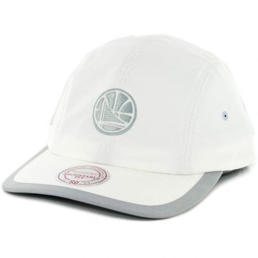 Mitchell & Ness Golden State Warriors Grey Poly Double Strapback Hat White