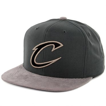 Mitchell & Ness Cleveland Cavaliers Buttery Snapback Hat Dark Grey-Grey
