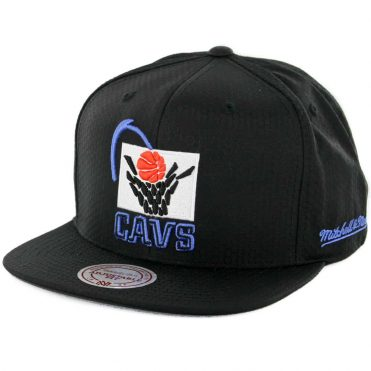 Mitchell & Ness Cleveland Cavaliers Ripstop Honey Snapback Hat Black