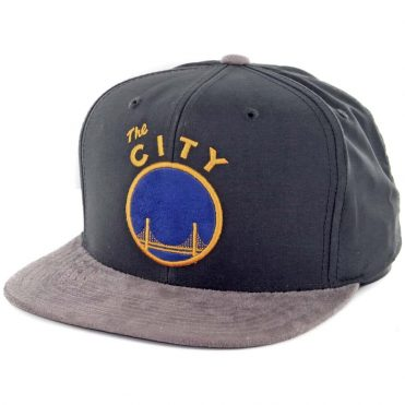 Mitchell & Ness Golden State Warriors Buttery Snapback Hat Dark Grey-Grey