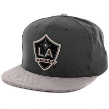 Mitchell & Ness Los Angeles Galaxy Buttery Snapback Hat Dark Grey-Grey