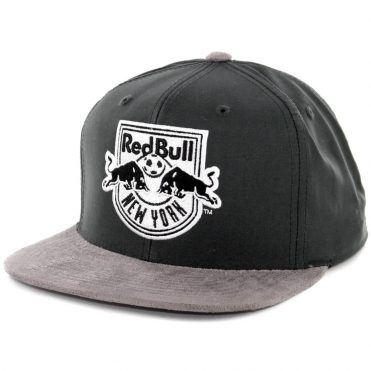 Mitchell & Ness New York Red Bulls Buttery Snapback Hat Dark Grey-Grey